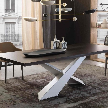 Riflessi - Living Table - Wooden top
