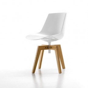 Flow Chair - 4-legged oak base