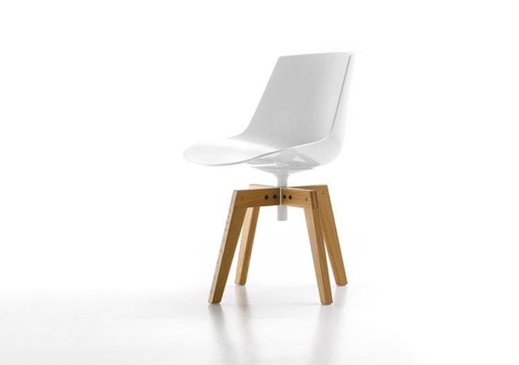 Flow Chair - 4-legged oak base
