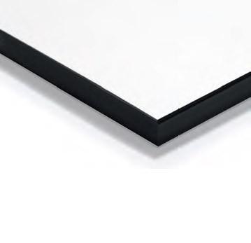 Top Hpl Bianco con bordo nero