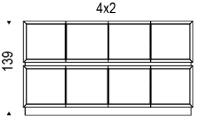 4x2: 245,5x49x139h cm