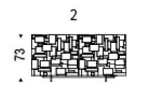 2: 147x47x73h cm