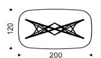 200x120x75h cm