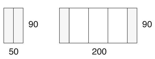 90 x 50/200 cm
