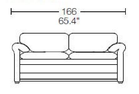 2 seats - L: 166 cm