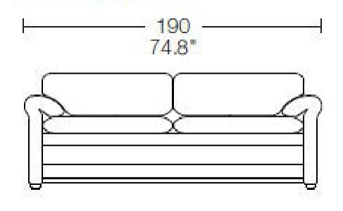 2 seats - L: 190 cm