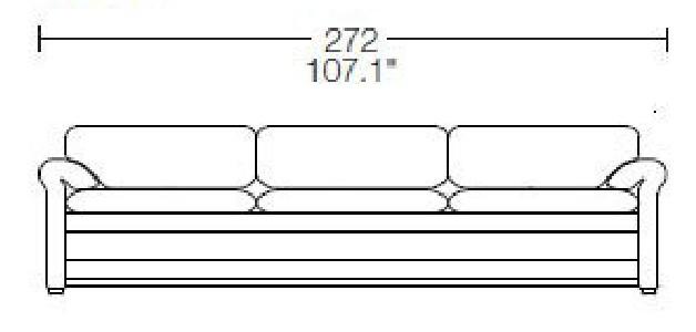 3 seats - L: 272 cm