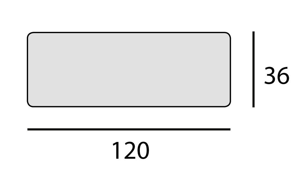 120x36 cm