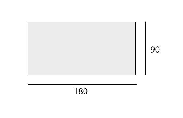 Rectangular: 90x180 cm
