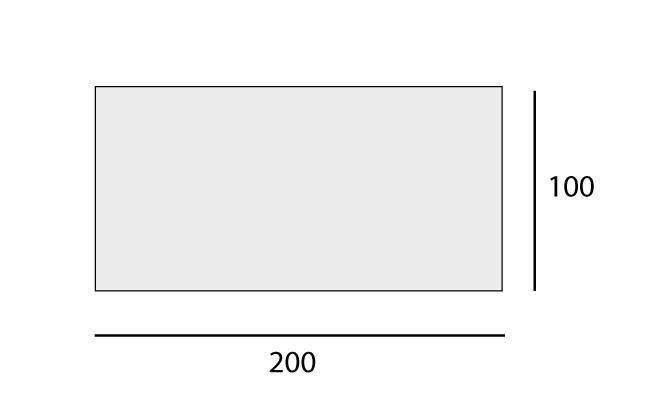Rectangular: 100x200 cm