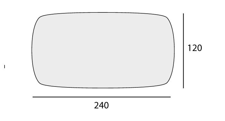 Shaped: 120x240 cm